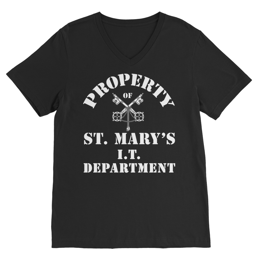 Property of St Mary's I.T Department (UK) Classic V-Neck T-Shirt - Jodi Taylor
