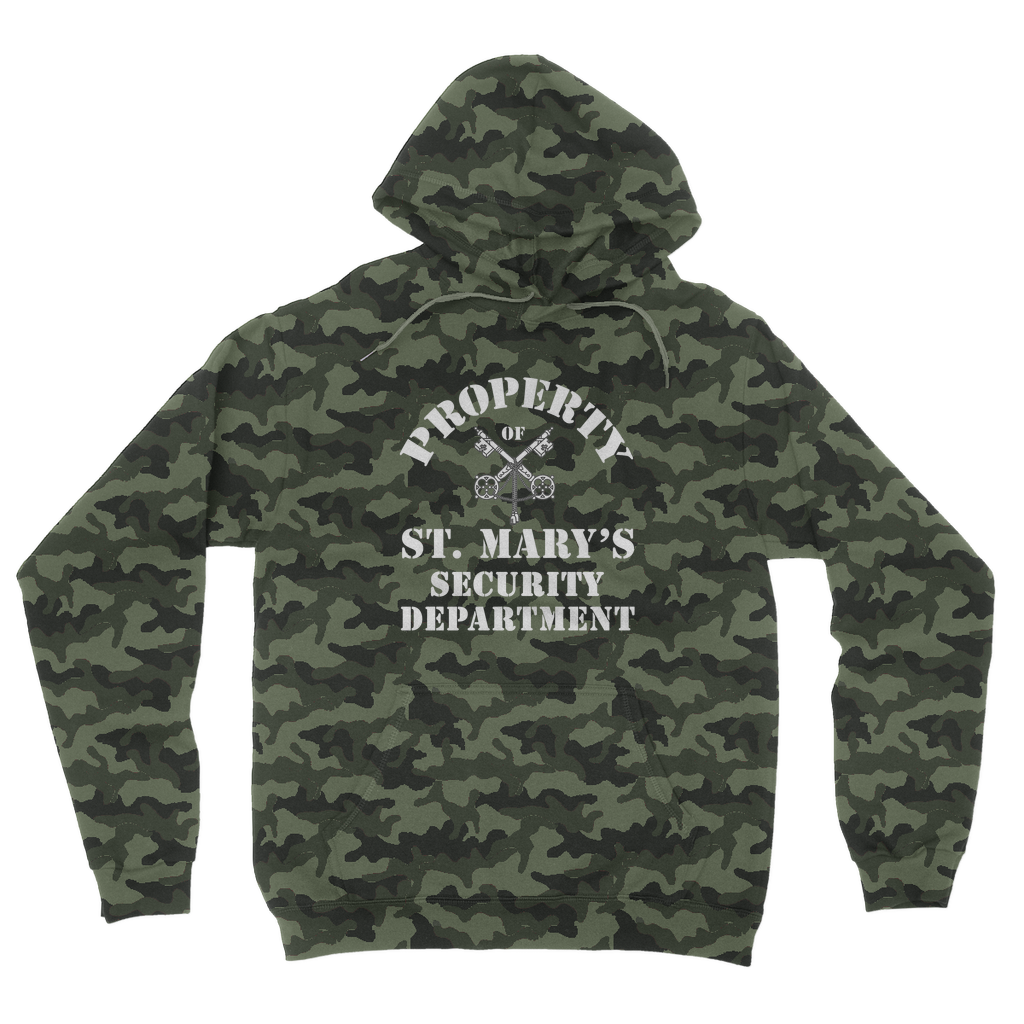Property of St Mary's Security Department (UK) Camouflage Adult Hoodie - Jodi Taylor