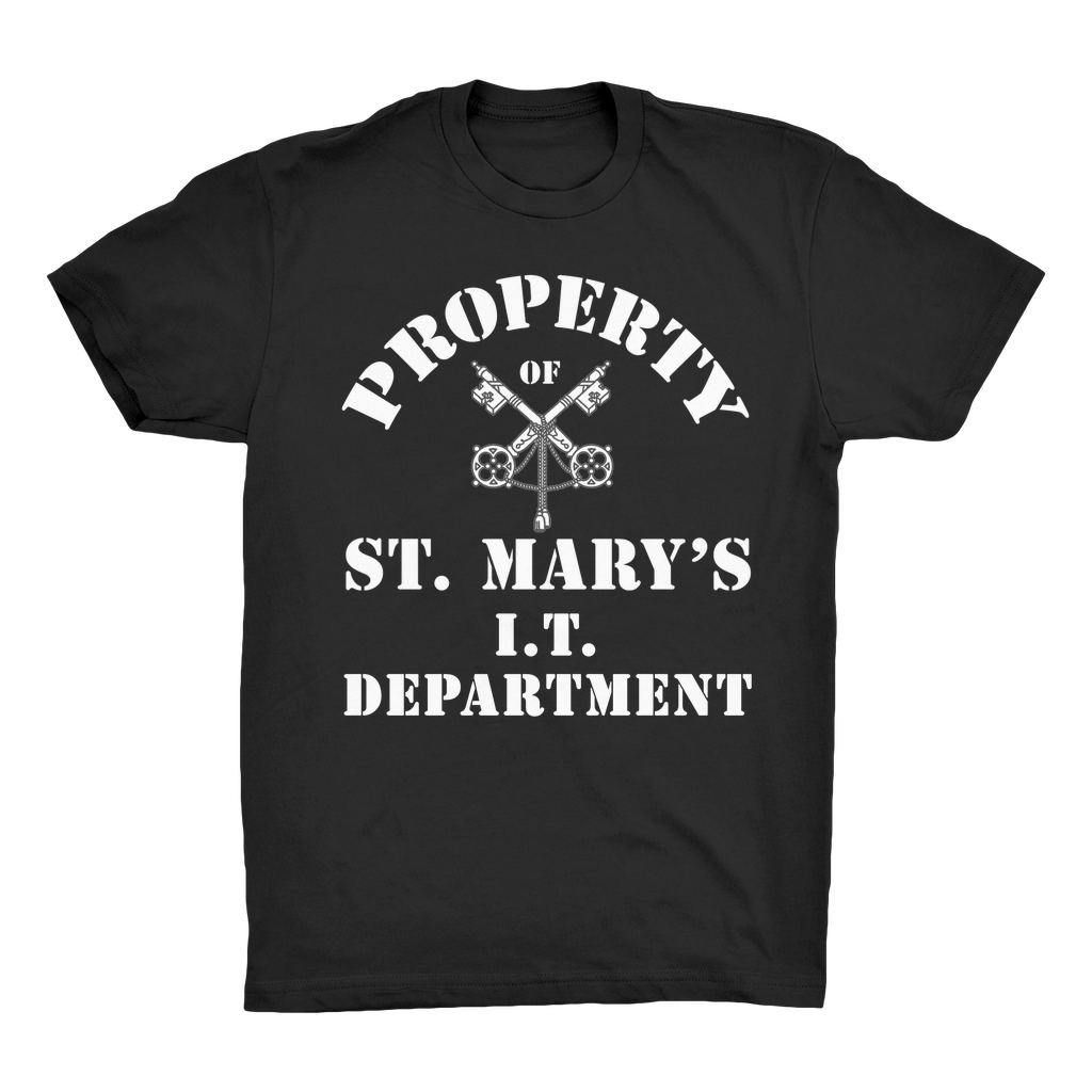 Property of St Mary's I.T Department (UK) Organic Adult T-Shirt - Jodi Taylor