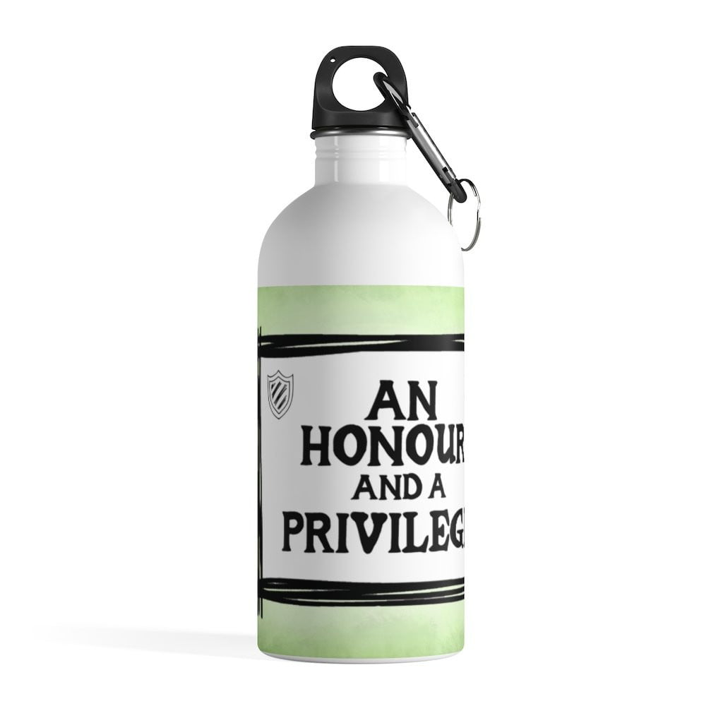 An Honour and A Privilege Quotes Ranges Stainless Steel Water Bottle (USA) - Jodi Taylor