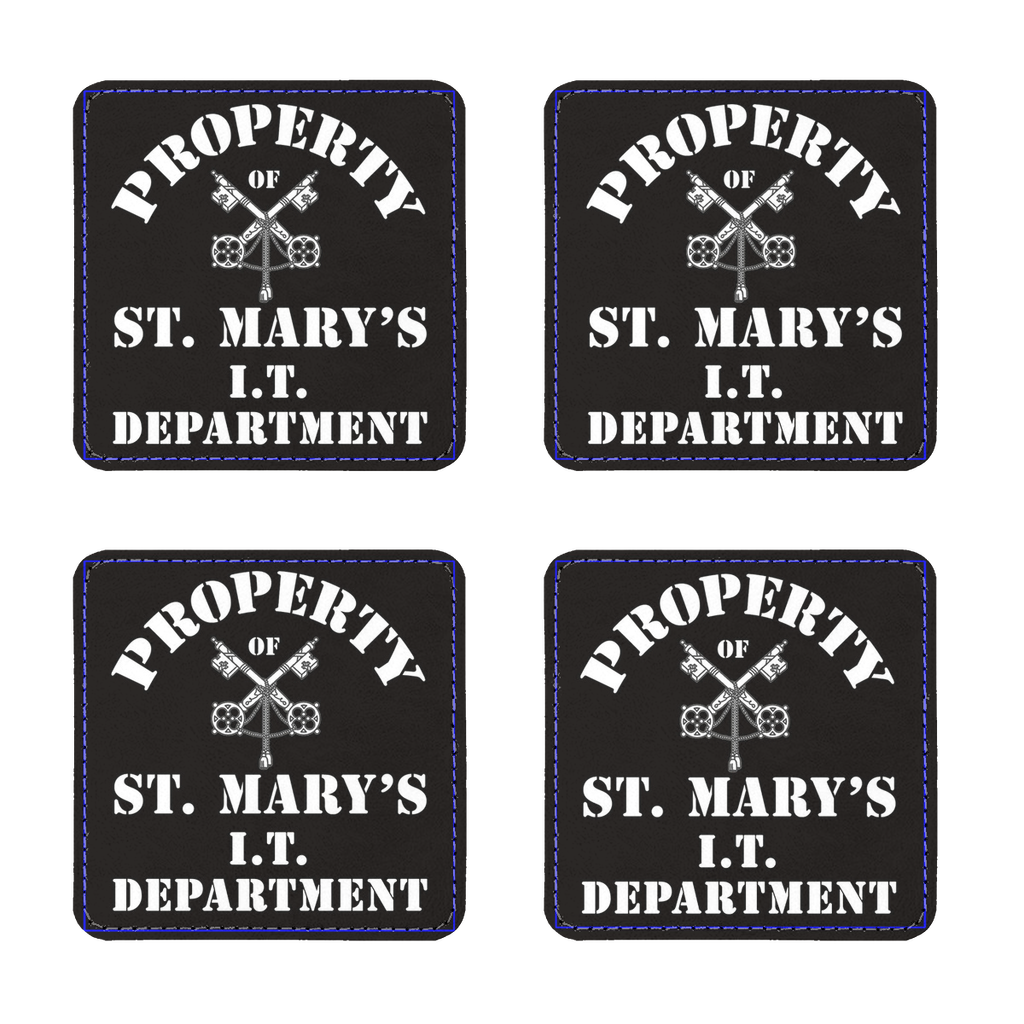 Property of St Mary's I.T Department (UK) Coasters Pack of Four - Jodi Taylor