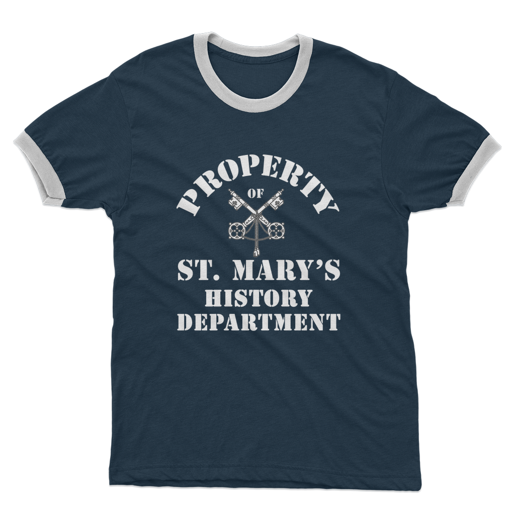 Property of St Mary's History Department (UK) Adult Ringer T-Shirt - Jodi Taylor