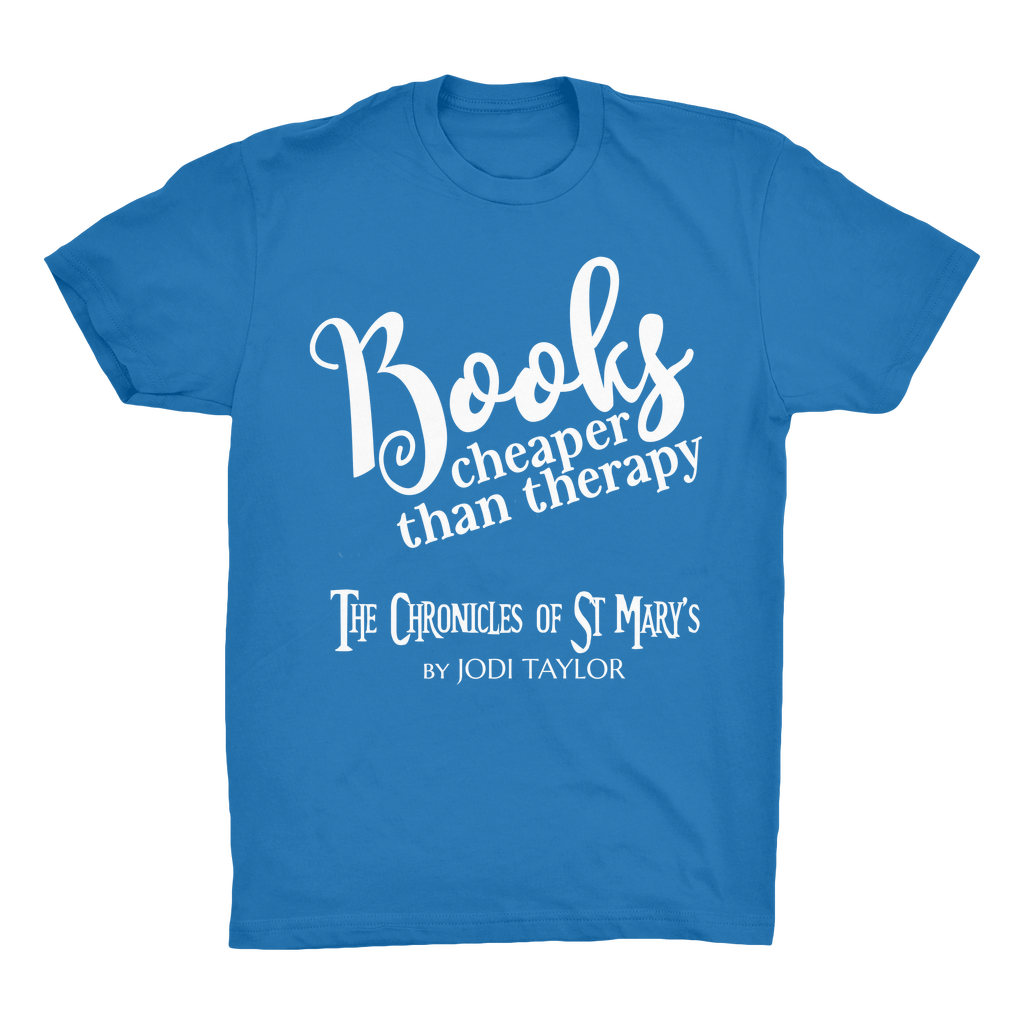 Books Cheaper Than Therapy (UK) Organic Adult T-Shirt - Jodi Taylor