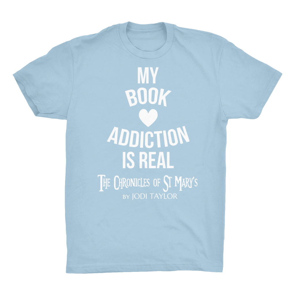 My Book Addiction Is Real (UK) Organic Adult T-Shirt - Jodi Taylor