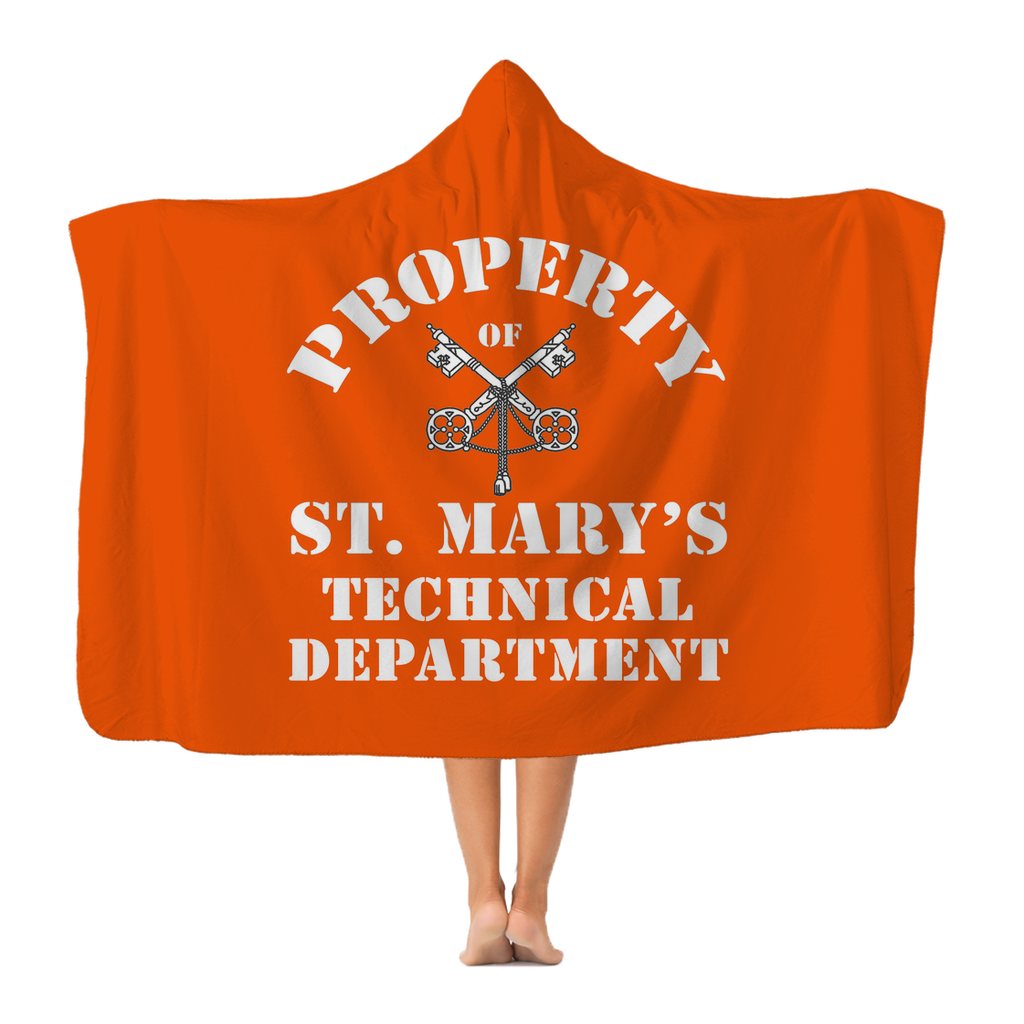 Property of St Mary's Technical Department (UK) Adult Hooded Blanket - Jodi Taylor