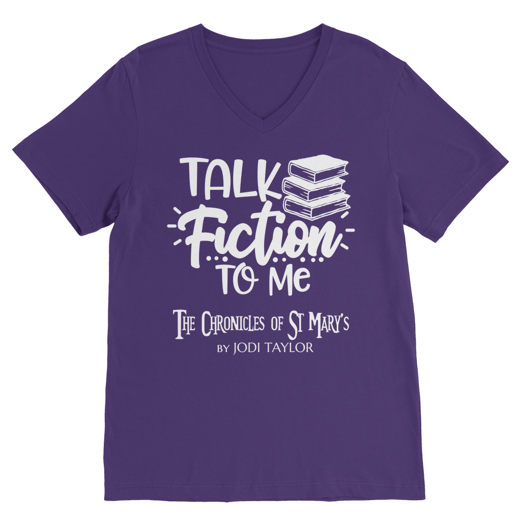 Talk Fiction To Me (UK) Classic V-Neck T-Shirt - Jodi Taylor