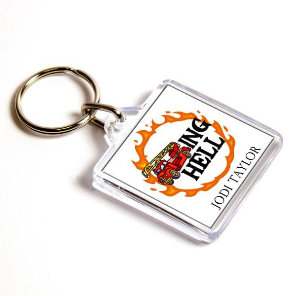 Fire Trucking Hell Keyring