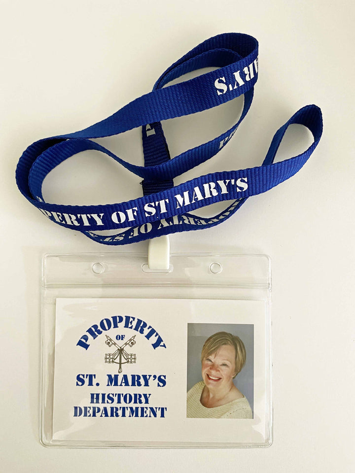 Property of St Mary's Lanyards with photo wallet