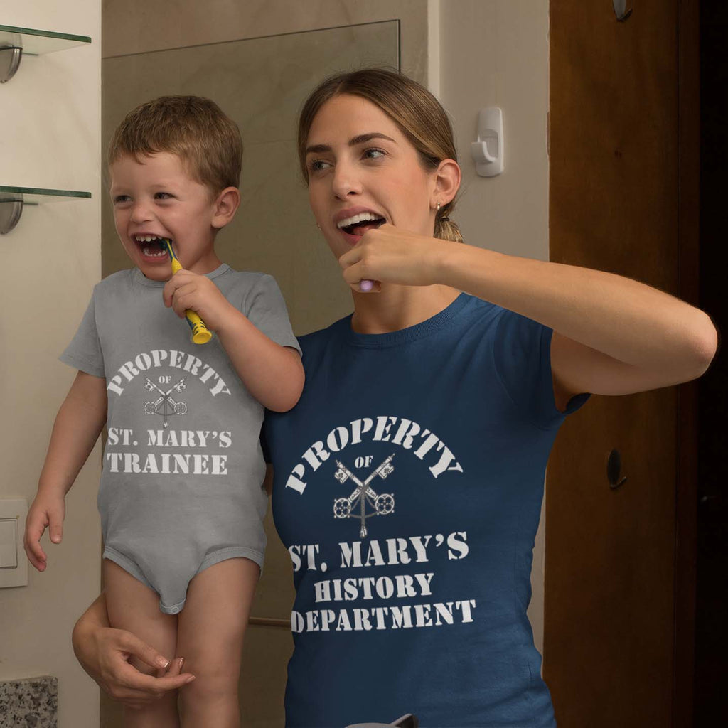 Property of St Mary's Trainee Department (UK) Classic Baby Onesie Bodysuit - Jodi Taylor