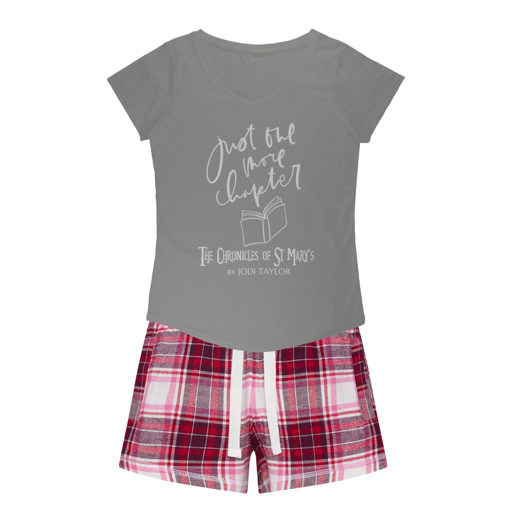 Just One More Chapter (UK) Girls Sleepy Tee and Flannel Short - Jodi Taylor