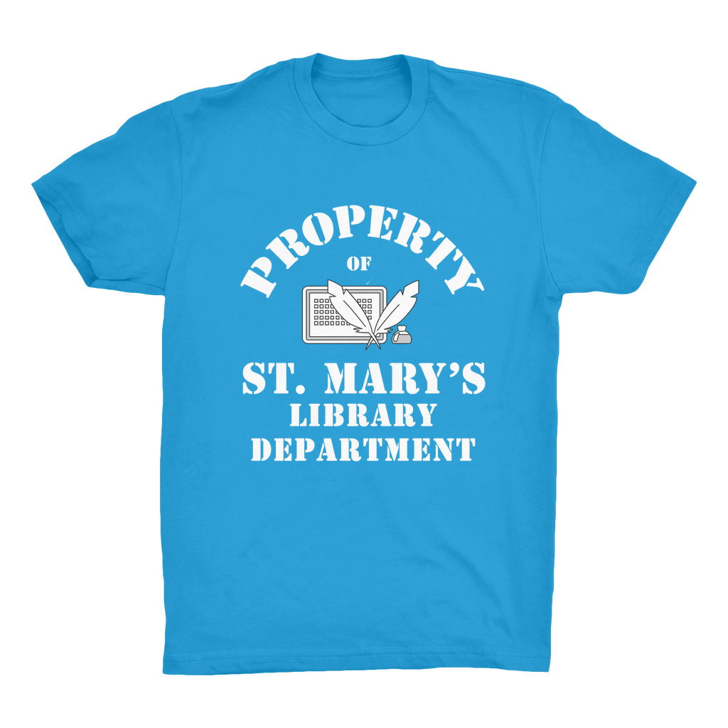 Property Of St Mary's Library Department (UK) Organic Adult T-Shirt - Jodi Taylor