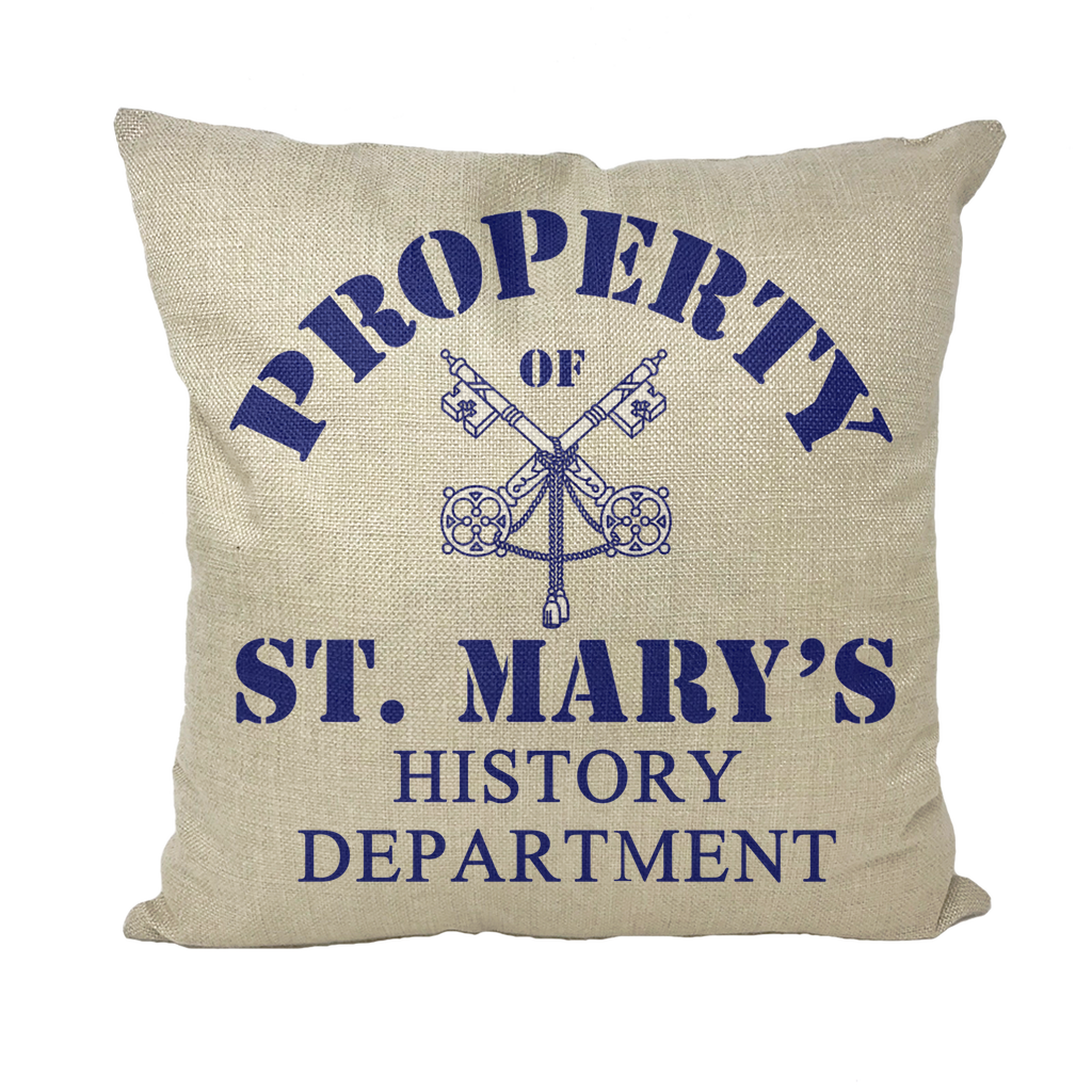 Property of St Mary's History Department (UK) Throw Pillows - Jodi Taylor