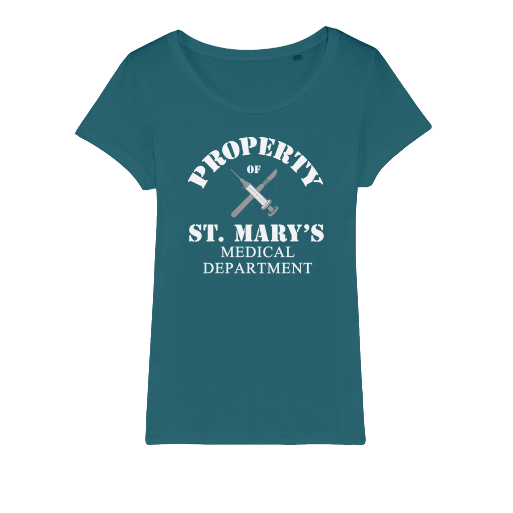 Property of St Mary's Medical Department (UK) Organic Jersey Womens T-Shirt - Jodi Taylor