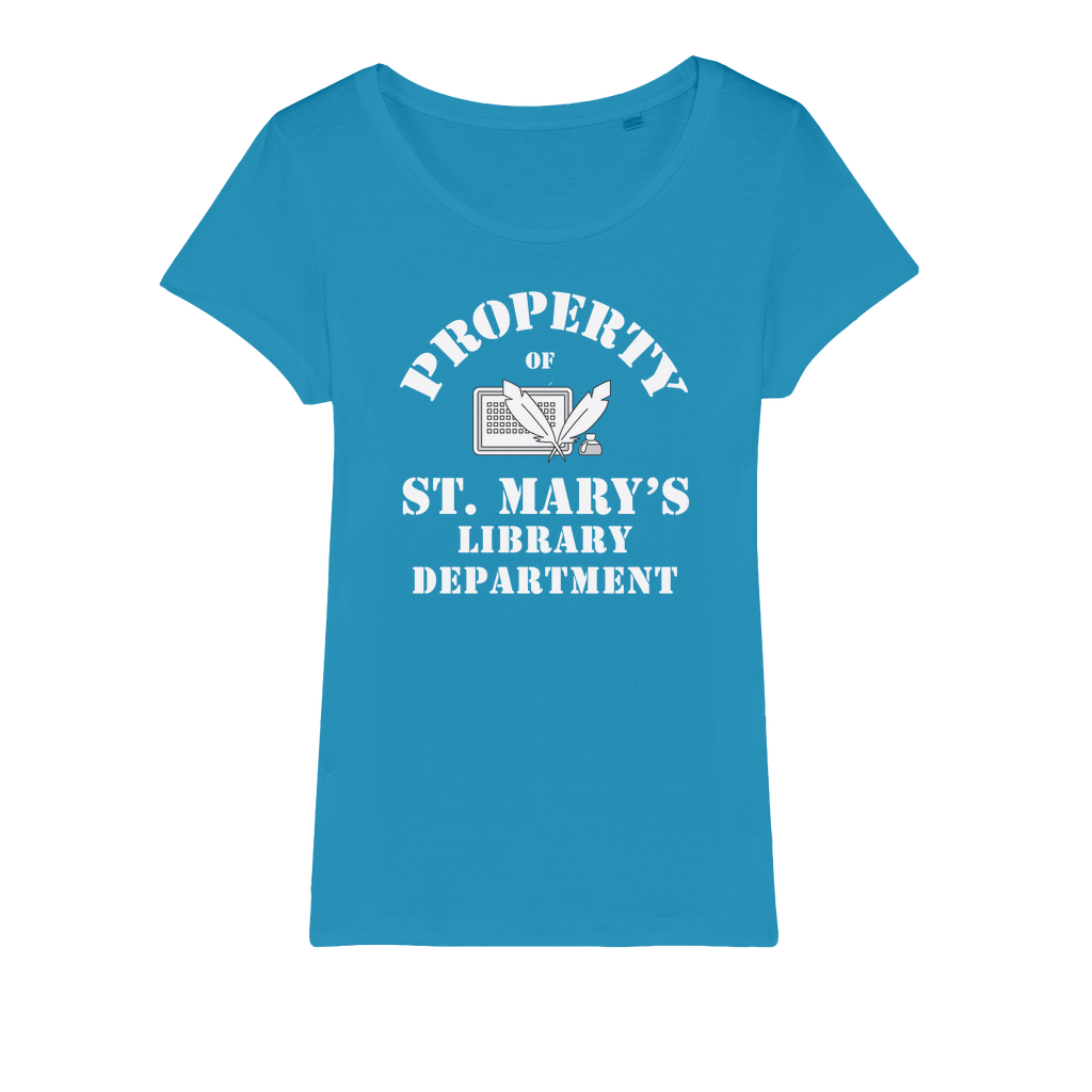 Property Of St Mary's Library Department (UK) Organic Jersey Womens T-Shirt - Jodi Taylor