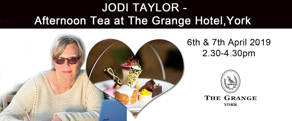 Saturday 6th April Disaster Magnet Afternoon Tea at The Grange Hotel, York - Jodi Taylor