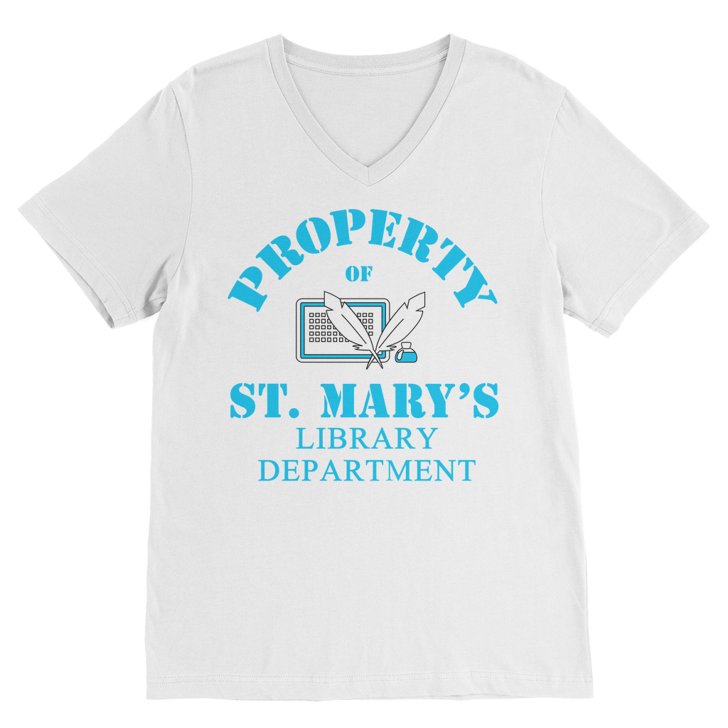 Property Of St Mary's Library Department (UK) Classic V-Neck T-Shirt - Jodi Taylor