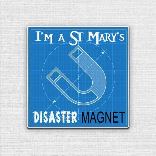 Disaster Magnet Pin Badge