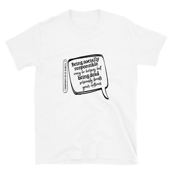 BEING SOCIALLY RESPONSIBLE FUNDRAISER Short-Sleeve Unisex T-Shirt