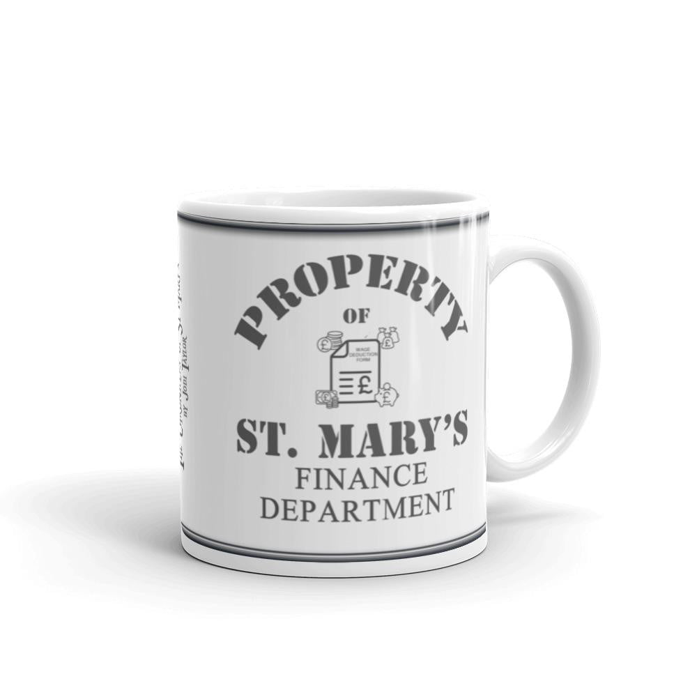 Property of St Mary's Finance Department Mug - Jodi Taylor