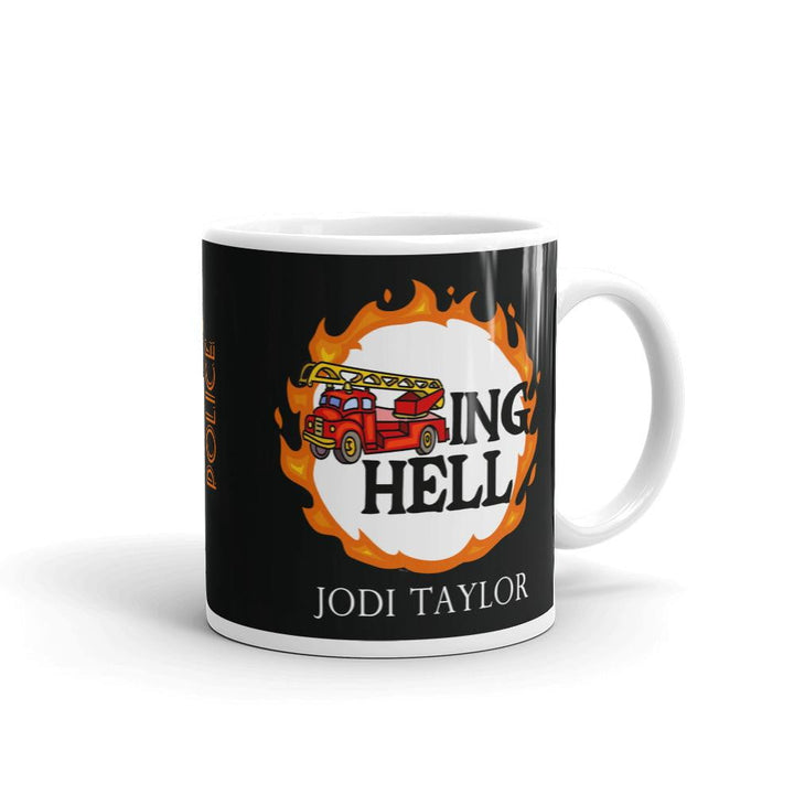 Fire Trucking Hell and Time Police Mug