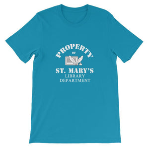 Property of St Mary's Library Department Unisex Short Sleeve Jersey T-Shirt