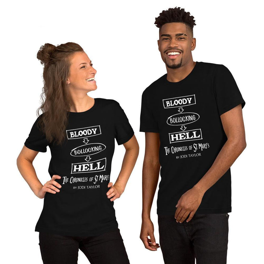 Bloody Bollocking Hell Quotes Range Short-Sleeve Unisex T-Shirt