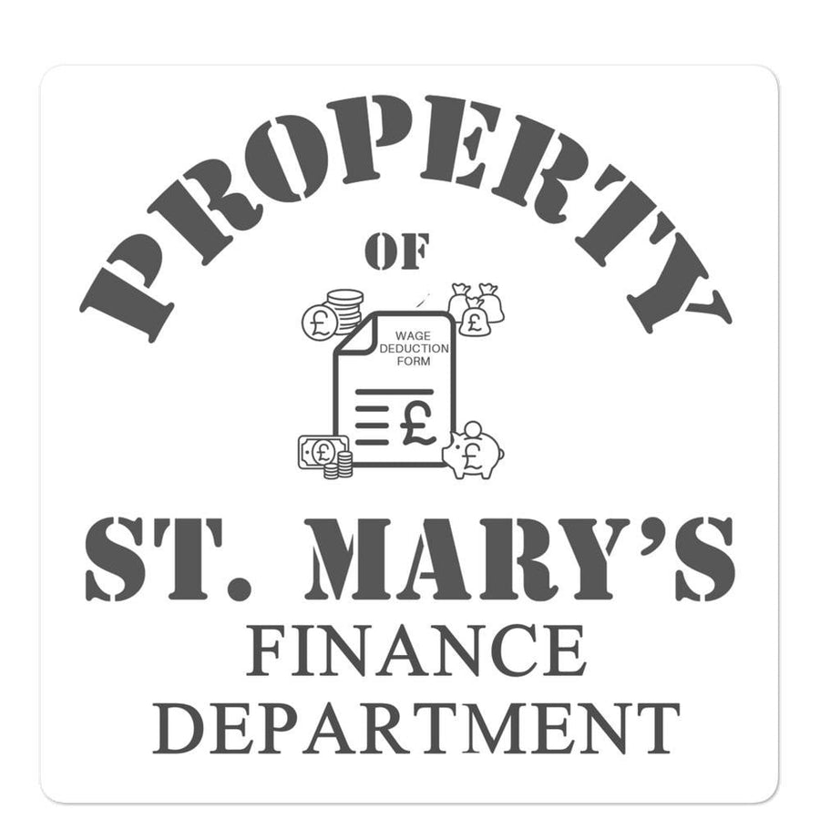 Finance Department Bubble-free stickers