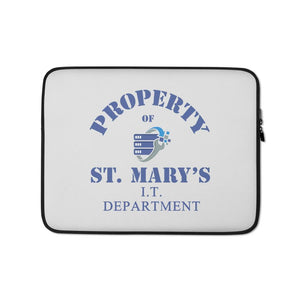Property of St Mary's I.T Department Laptop Sleeve