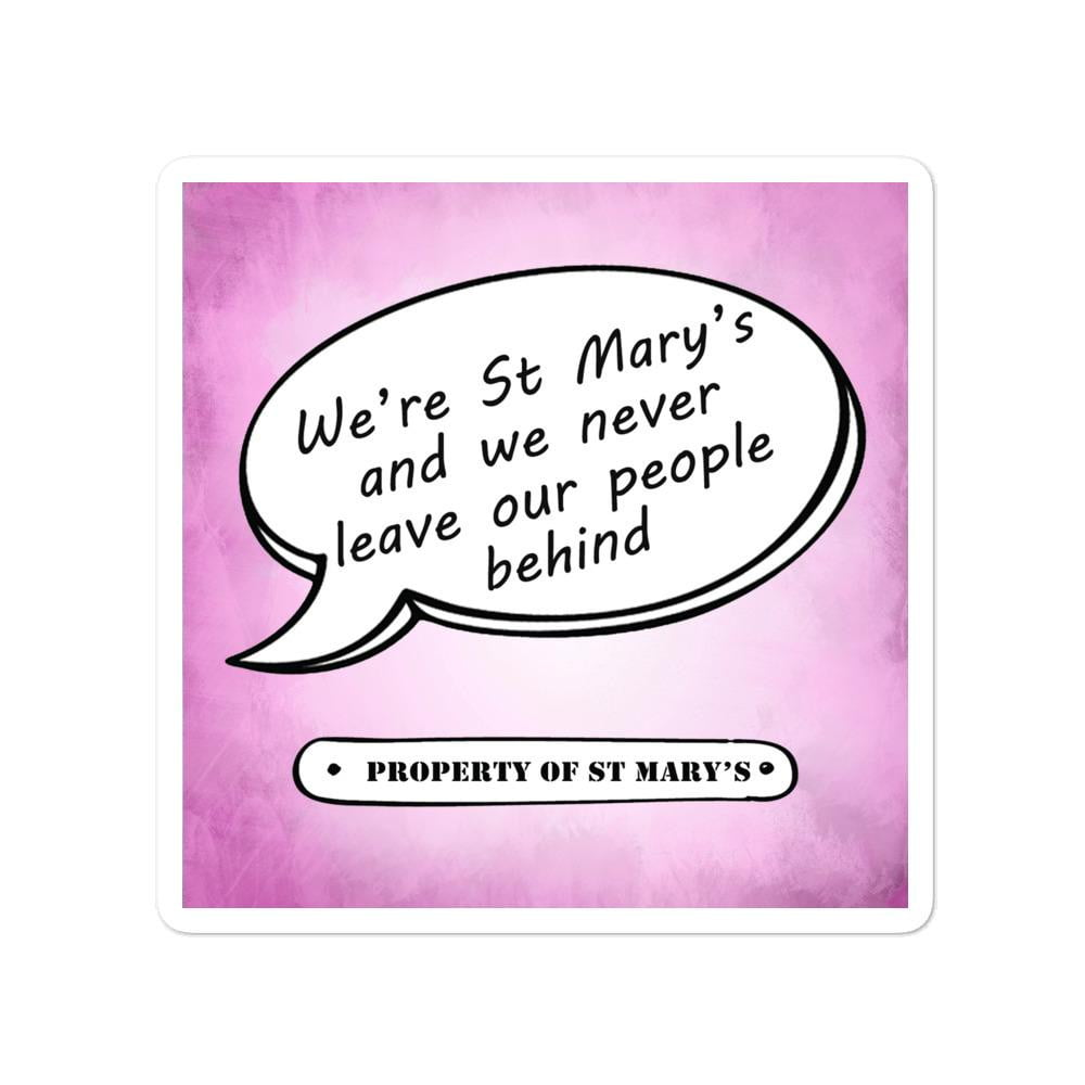 We're St Mary's Bubble-free stickers - Jodi Taylor