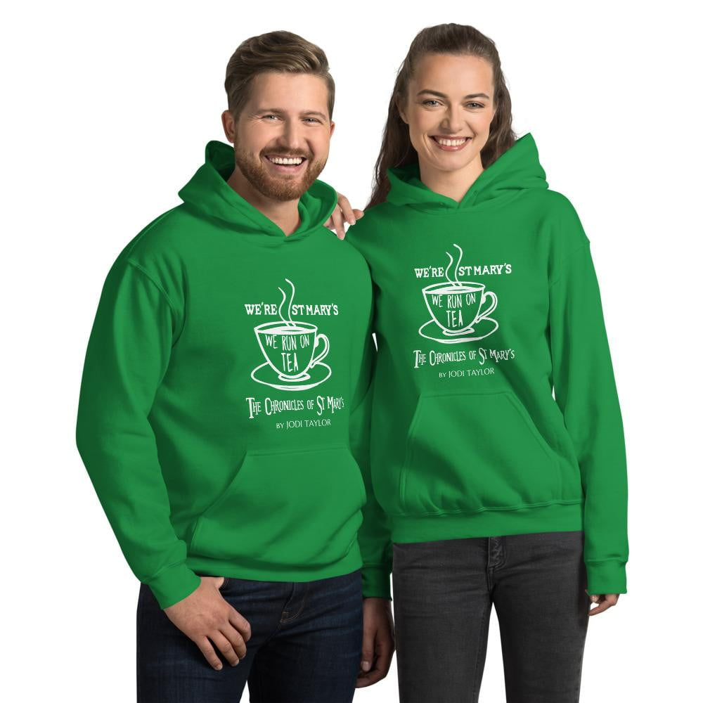 We're St Mary's and We Run On Tea Quotes Range Unisex Hoodie (Europe, USA, Australia) - Jodi Taylor