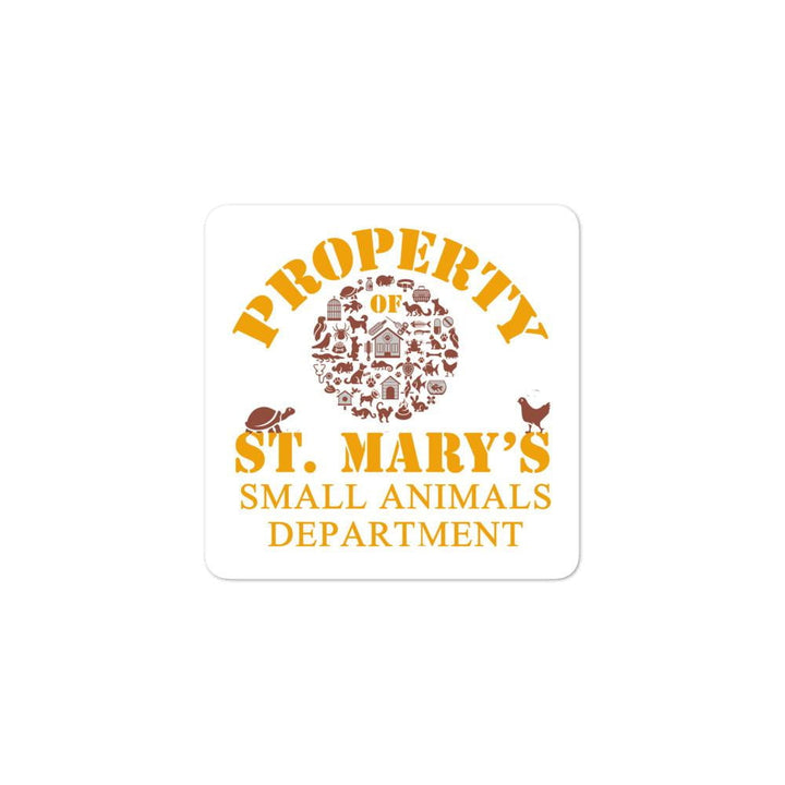 Small Animals Department Bubble-free stickers