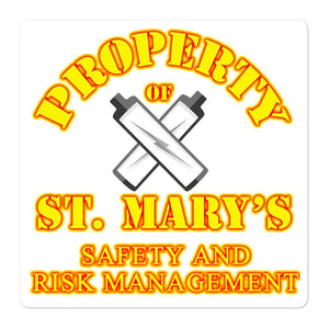 Safety and Risk Management Bubble-free stickers