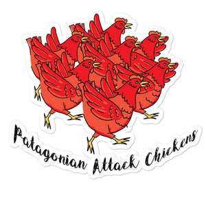 Patagonian Attack Chickens Bubble-free stickers