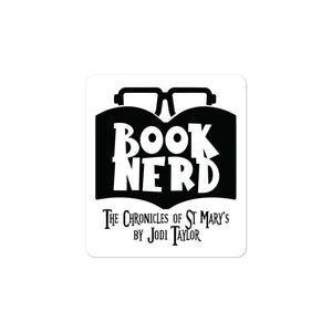 Book Nerd Bubble-free stickers