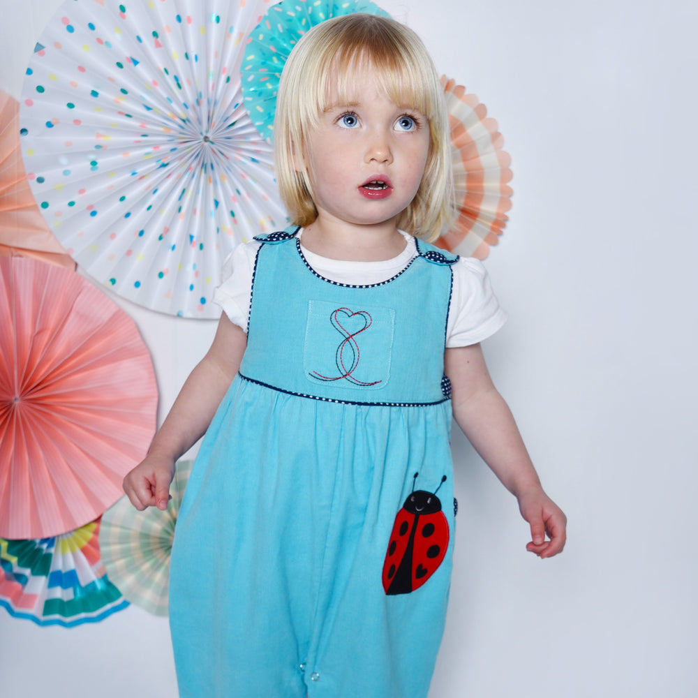 Ladybird Applique Cord Dungarees