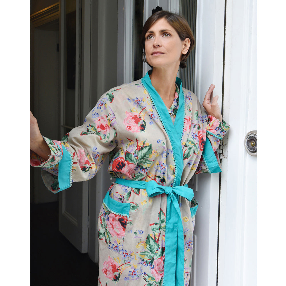Floral Blush Ladies Dressing Gown