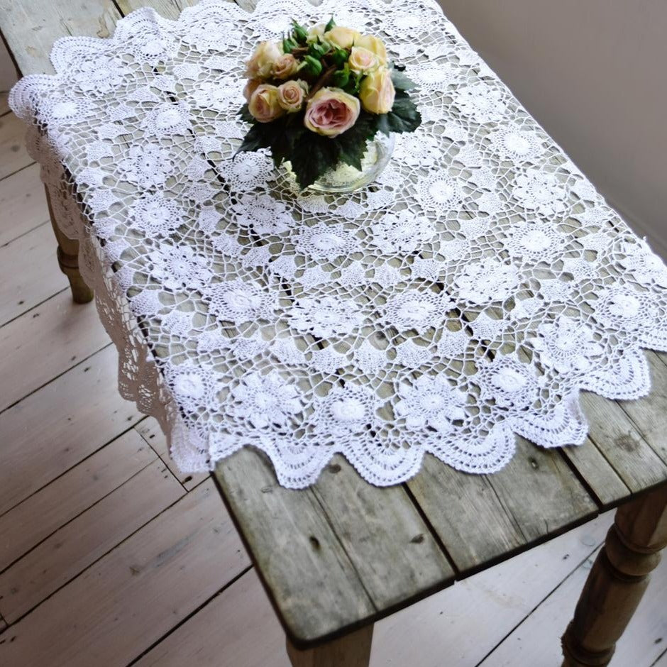 Small Crochet Round Tablecloth