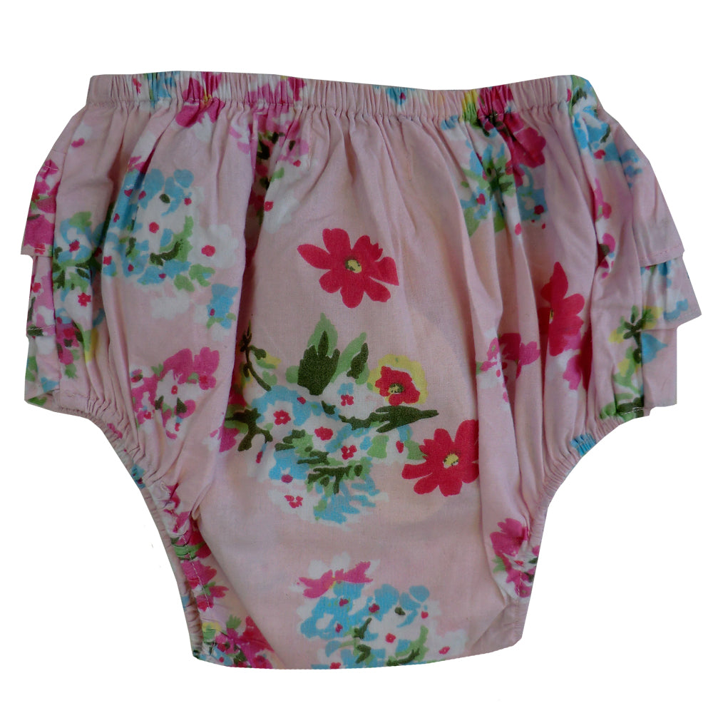 Pink Floral Frilly Knickers