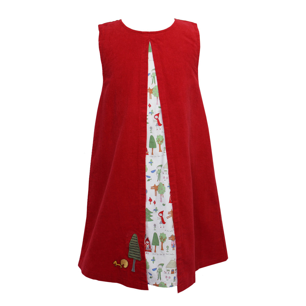 Red Riding Hood A-Line Cord Dress
