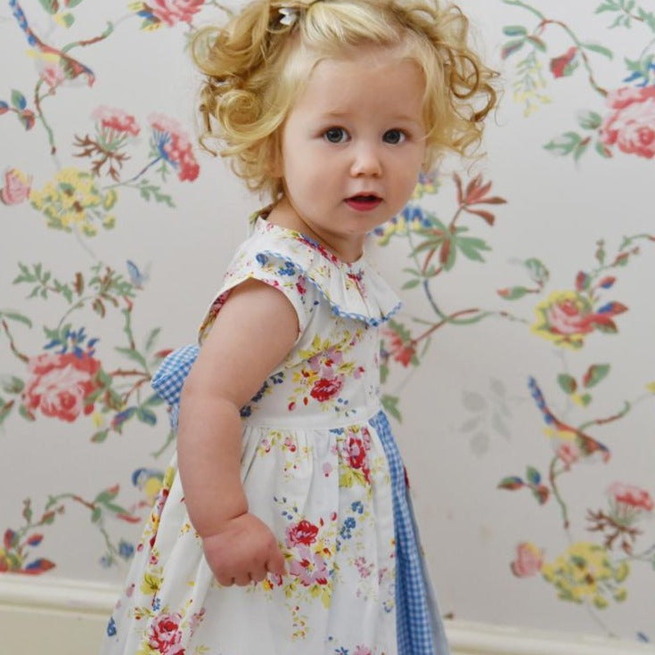 Mixed Floral Pinafore Dress