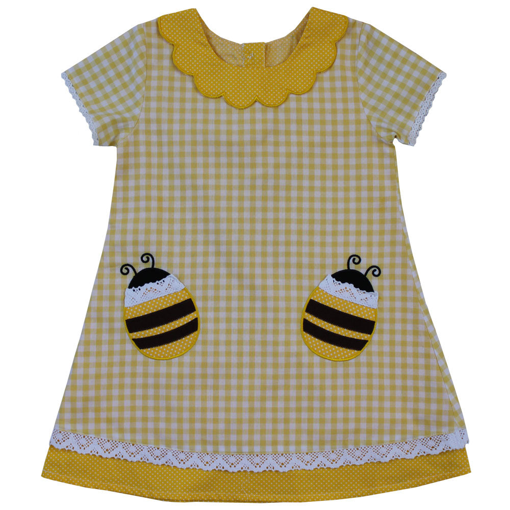 Lemon Check Bumble Bee Dress