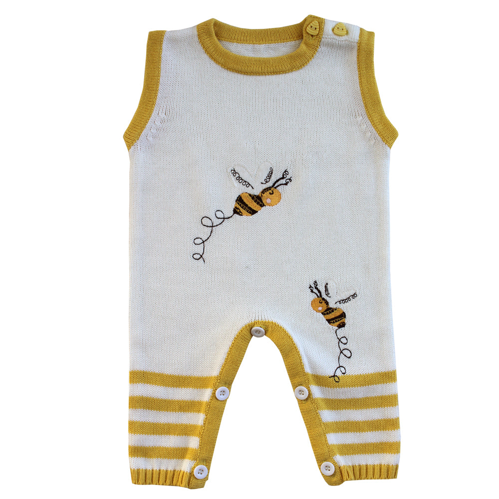 Bumble Bee Knitted Sleeveless Jumpsuit
