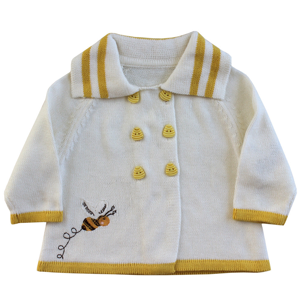Bumble Bee Knitted Pram Coat