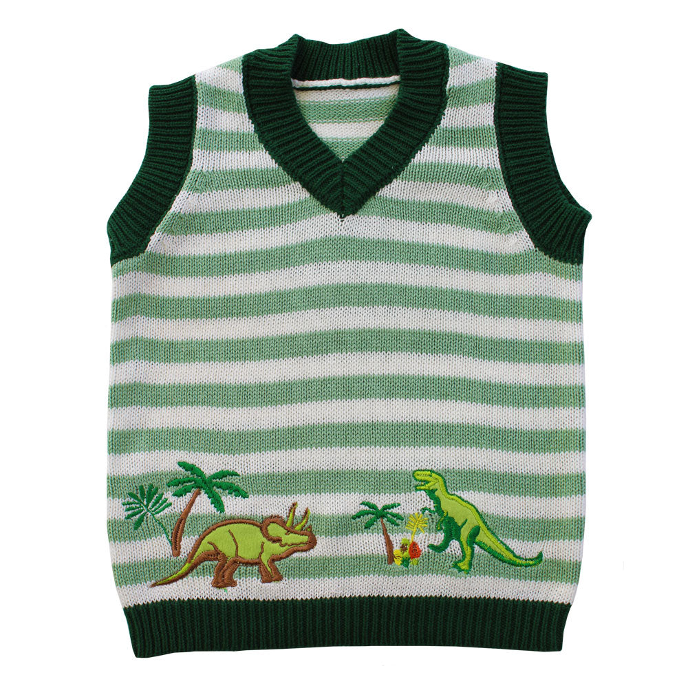 Dinosaur Knitted Tank Top