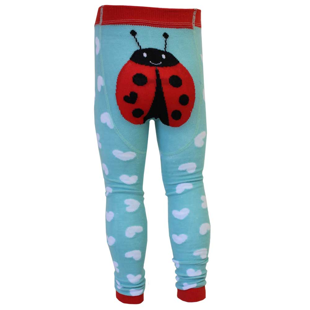 ladybird themed footless leggings from powell craft