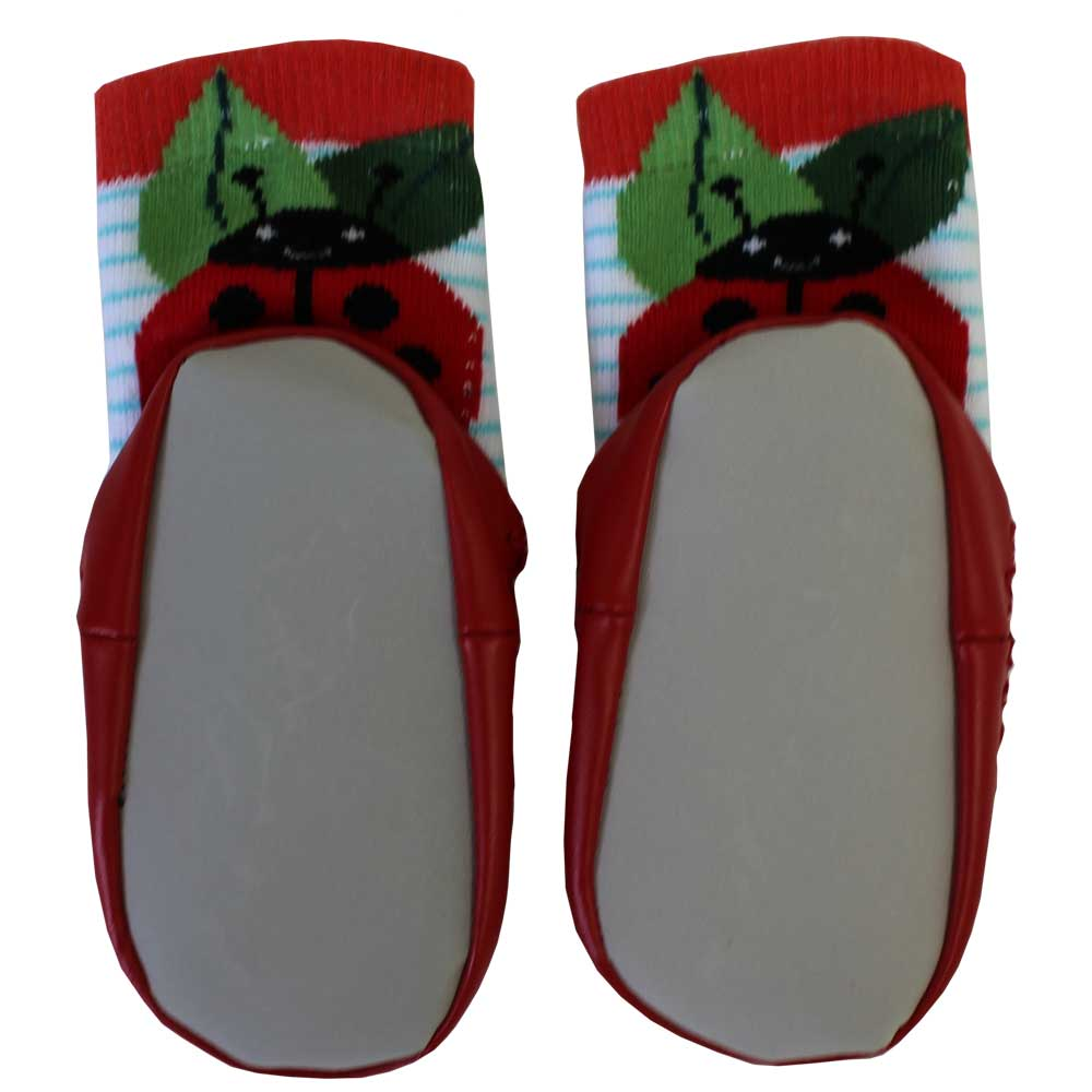 ladybird motif moccasin slippers from powell craft