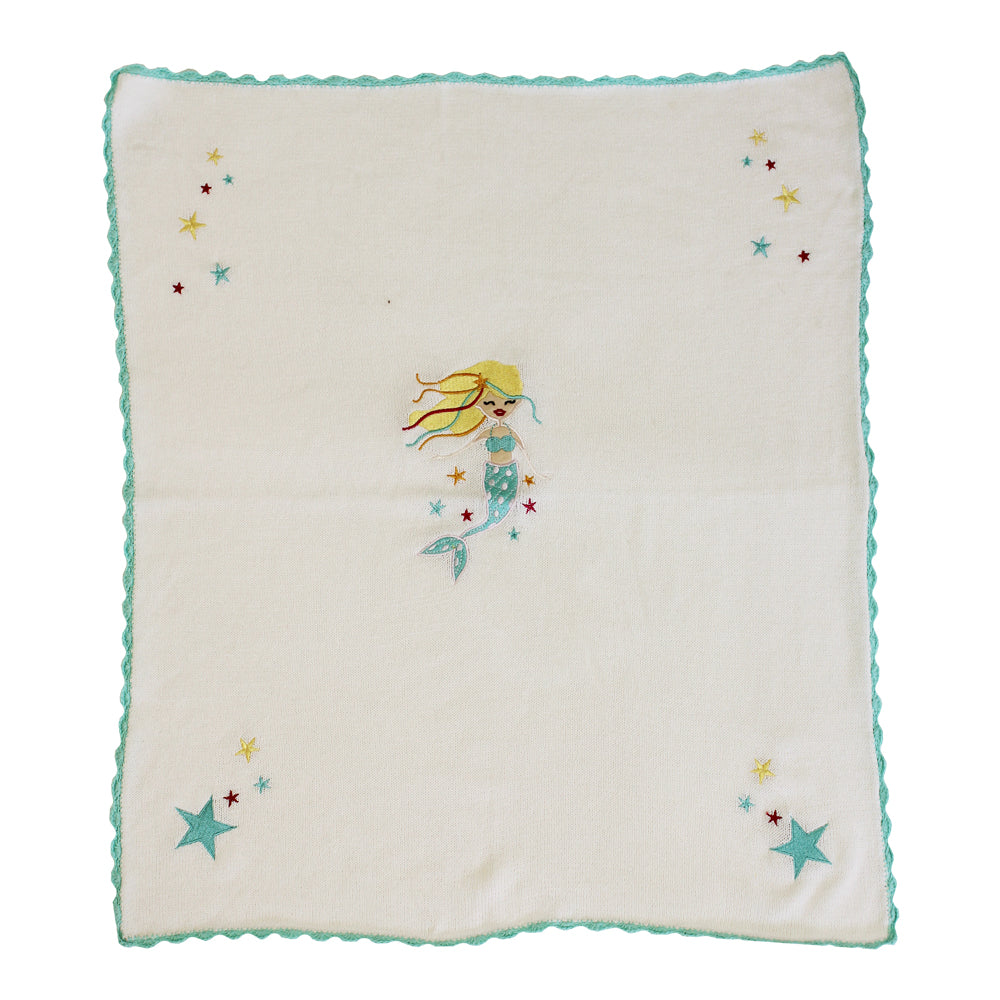 mermaid pram blanket by powell craft