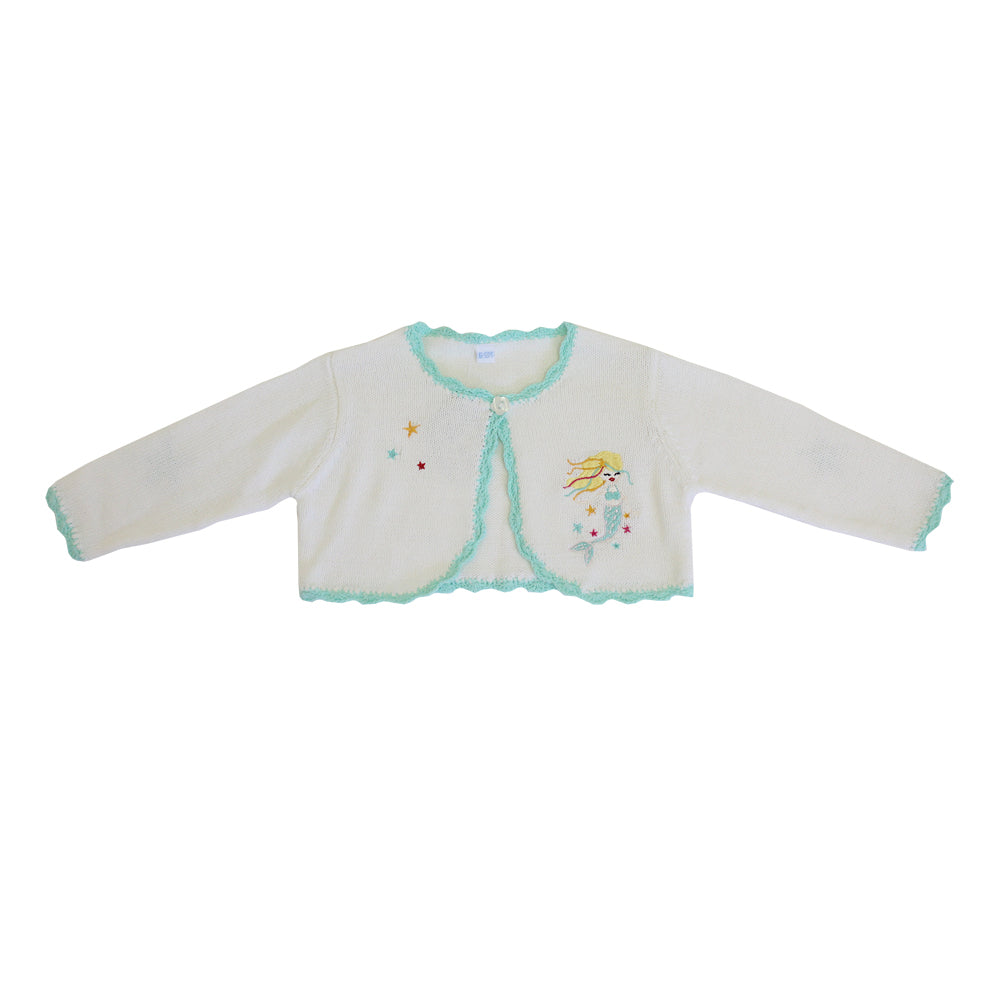 mermaid knitted baby bolero by powell craft