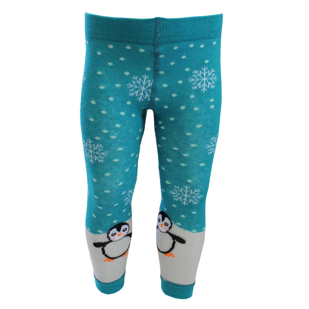 penquin themed footless leggings from powell craft