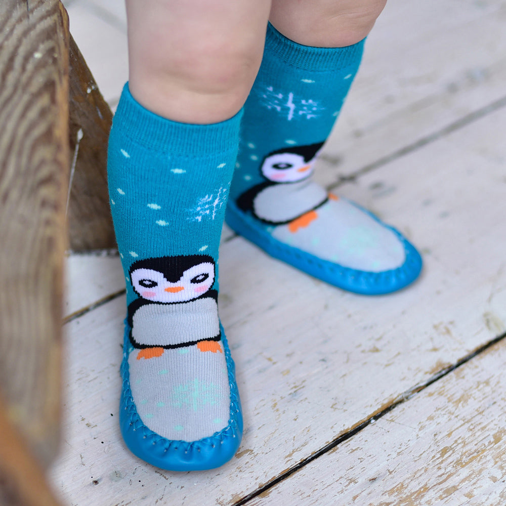 Penguin Moccasin Slippers